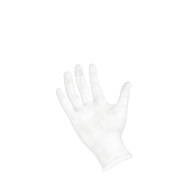 Sempermed GripStrong Vinyl Glove, Powder-Free, Large, Clear, 100 / BX